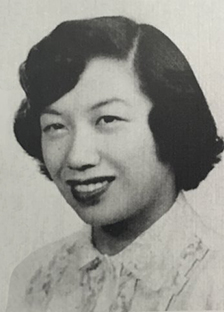 Ruth Wing Morgan '50, '60 MA in her yearbook photograph